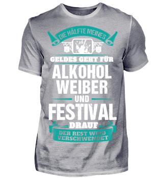 Alkohol Weiber und Festival - Front