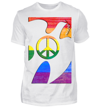 Peace Zeichen in Friedenstaube - lgbt