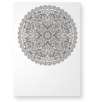 Art Deco Heart Mandala - outline 1b