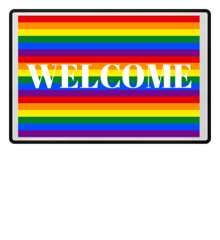 ♥ Gay Pride Rainbow Flag Stripes Matte