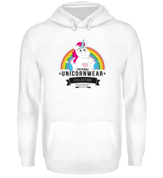 Unicorn retro design with rainbow