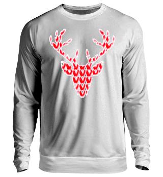 Ugly Christmas Sweater Hirschkopf