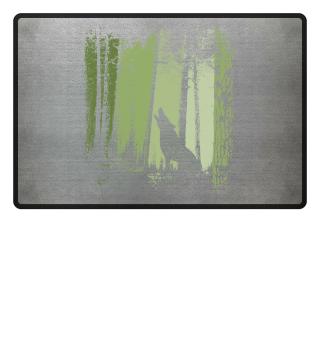 Wolf im Zwielicht Wald Twilight Forest