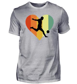 Retro Soccer Heart Design
