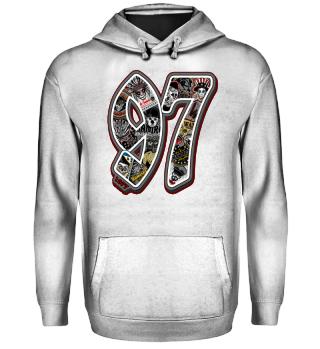 Herren Hoodie Sweatshirt 97 Ramirez
