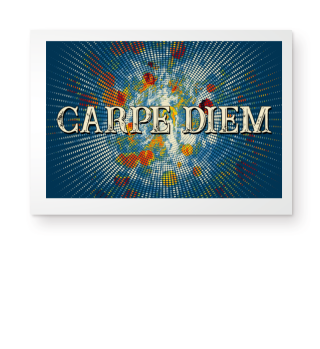 CARPE DIEM - Halftone Star bunt I Poster