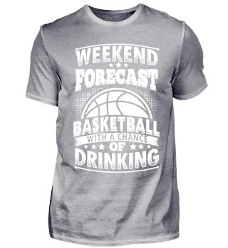 Funny Basketball Shirt Weekend Forecast
