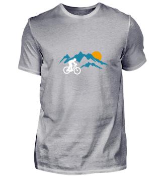 Mountainbike Sunset Nature Mountain Gift