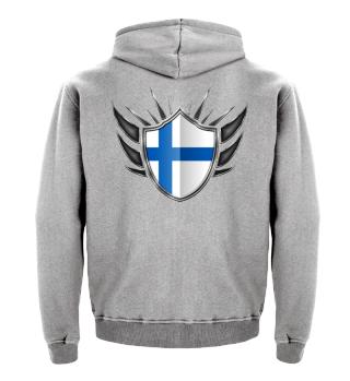 Finnland-Finland Wappen Flagge 013