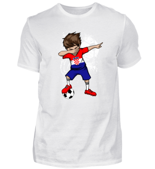 Croatia Soccer Boy Football Dab