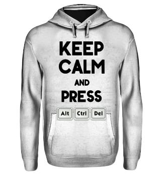 Keep Calm ALT CTRL DEL - black