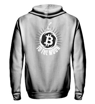 Bitcoin to the Moon - Zipper Geschenk