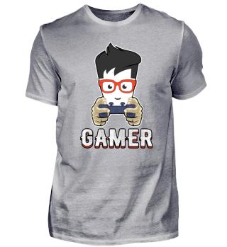 Gamer Nerd Brille Gamepad Spielen Online