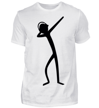 Dabbing Stick Figure - headphone I