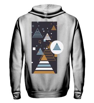 Abstrakte Pyramiden Illustration I Shirt