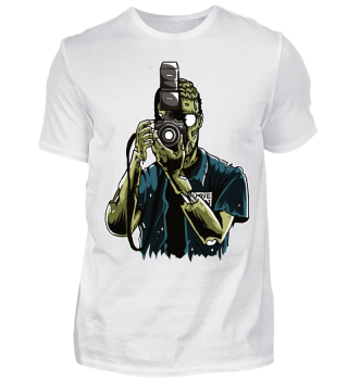 Zombie Photographer T-shirt Halloween