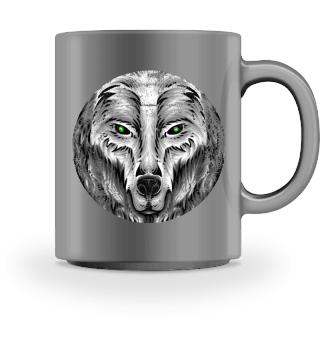 ♥ SCHUTZGEIST · WOLF · KREIS · GRUNGE #4T