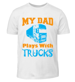 kids gift dad plays with trucks