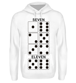 Würfel Punkte - SEVEN ELEVEN - black