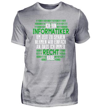 Programmierer Informatiker T-Shirt