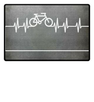 Herzrhythmus Kurve Fahrrad II - weiss