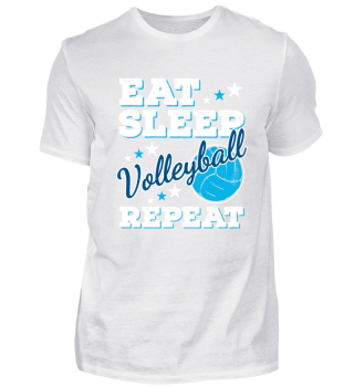 Eat Sleep Volleyball Volleyballer Lustig Cool Funny Nerdy Spruch Sprüche Shirt Geschenk