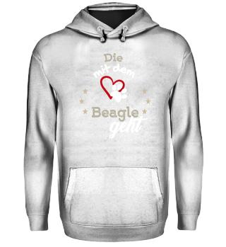 Die mit dem Beagle geht Geschenk