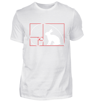 ★ Fibonacci Spiral - RABBIT red white