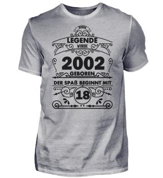 2002 geborgen - 18 Jahre alt
