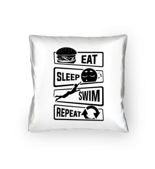Eat Sleep Swim Repeat - Swimming Water