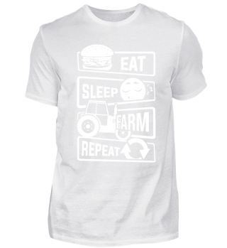 Eat Sleep Farm Repeat - Farmer Tractor