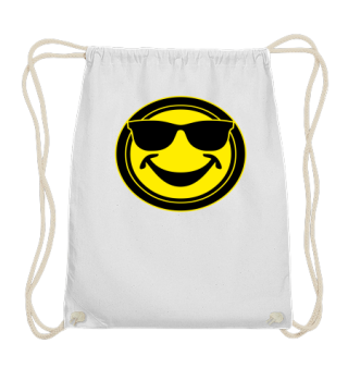 COOL yellow SMILEY with sunglasses