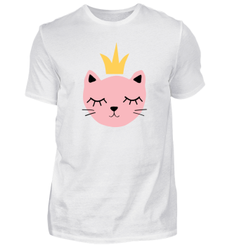 Pink Cat with a Crown