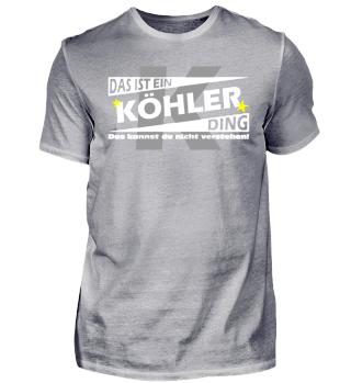 KÖHLER DING | Namenshirts
