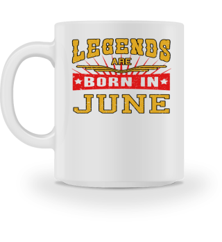 Legends are born in June birthday gift shirt