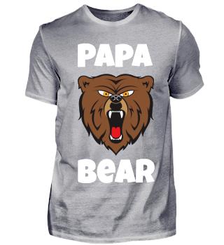 Papa Bear white/Bär/Tier/böse/Familie/Kind/Geschenk/Vater