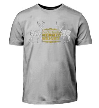 ★ Merry Bright - Vintage Deers III