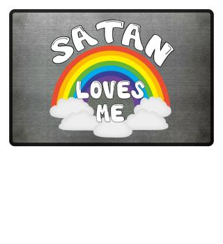 Satan Liebt Mich Party Fußmatte Geschenk
