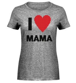 I love heart Mama Stick Strickmuster