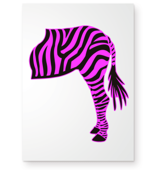 ARBEZ Zebra from behind - black pink 3