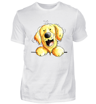 Lustiger Golden Retriever Kopf