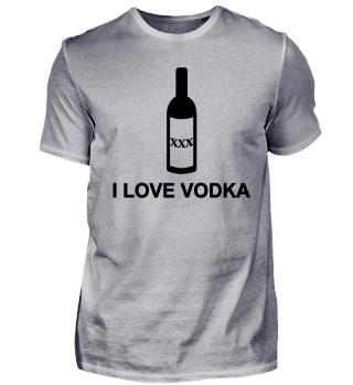 I Love Wodka Alkohol saufen Geschenk