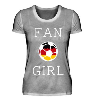 Fangirl Fanshirt Deutschland Fußball
