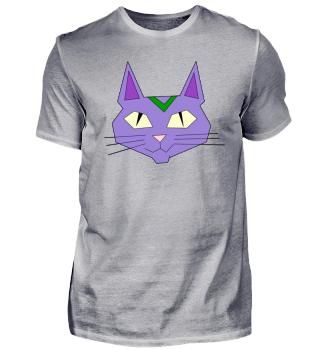 Cat face purple
