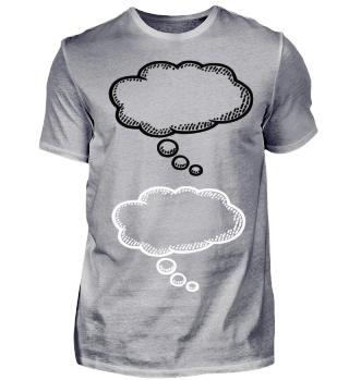 Gedankenblase schwarz weiß