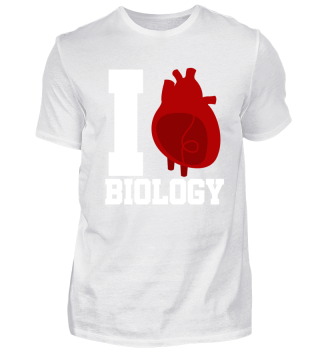 I Heart Biology Science gift