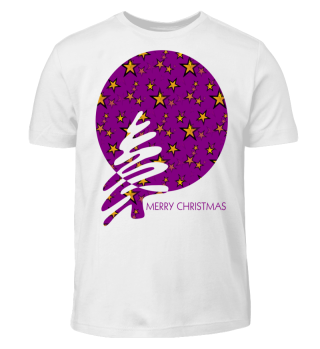 Merry Christmas - stylish stars purple