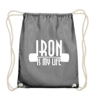 IRON is my life - dumbbells - Hoodie