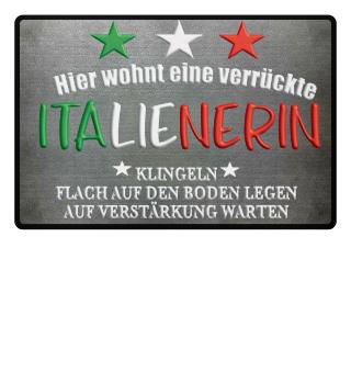 Fußmatte - Verrückte Italienerin