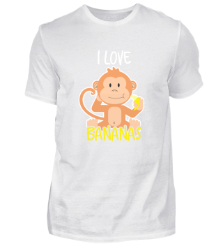 Monkey shirt - I love bananas